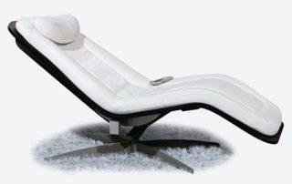 Chaise-longue relax motorizzata bianca