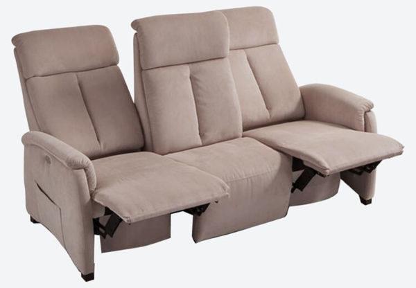 Divano relax motorizzato a tre posti