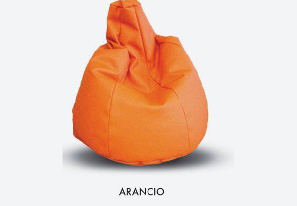 Poltrona sacco pouf per bambini arancione