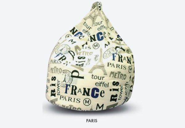 Poltrone sacco pouf con scritte fantasia